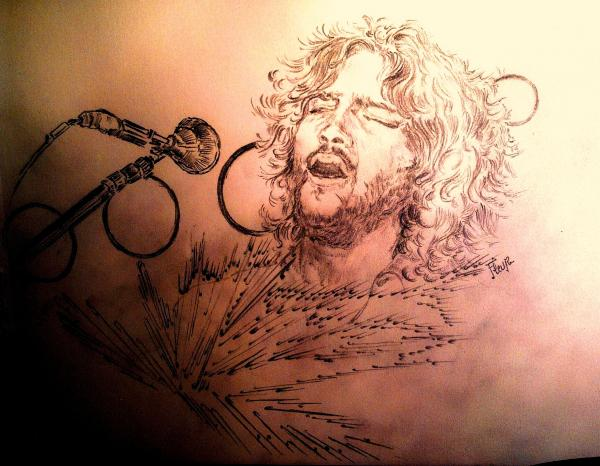 John Frusciante by flower